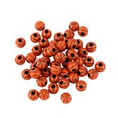 Tree House Studio, Plastic Basketball Beads, 3/8 inch, Orange, 100 count