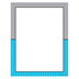 Isabella Collection, Letterhead, 8.5 x 11 Inches, Turquoise and Gray, 50 Sheets