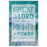 Salt & Light, Psalm 147:5 Great Is Our Lord Church Bulletins, 8 1/2 x 11 inches Flat, 100 Count