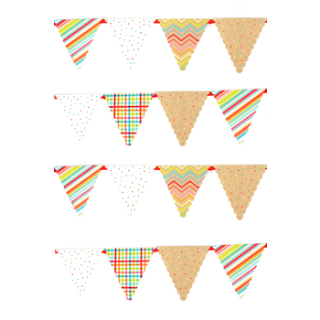 TooCute Collection, Pennant Banner, 8 Designs, 16 Flags, 12 Feet