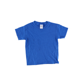 Gildan, Short Sleeve T-Shirt, Royal Blue, Youth Extra Small - Large, Pre-Shrunk Cotton, Youth XS-L