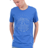 NOTW, Psalm 46:10 Be Still And Know, Men's Short Sleeve T-shirt, Blue Heather, S-2XL