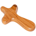 Holy Land Gifts, Olive Wood Handheld Cross with Bag, Olive Wood, Brown, 4 x 2 1/2 Inches
