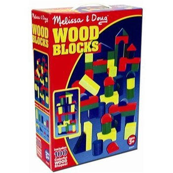 Melissa & Doug, Colorful Wood Blocks, Ages 3 to 8 Years Old, 100 Pieces