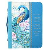 Divinity Boutique, Peacock Serenity Prayer Bible Cover, Blue, Multiple Sizes Available