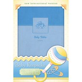 NIV Baby Keepsake Bible, Duo-Tone, Blue