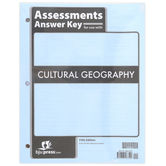BJU Press, Cultural Geography Assessments Answer Key, 5th Edition, Paperback, 128 Pages, Grade 9