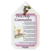 H.J. Sherman, First Holy Communion Pocket Card with Pin, Card Stock, 2 1/4 x 3 1/2 inches