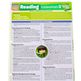 BarCharts Inc, Reading Fundamentals 3 Reading Comprehension, Quick Study Academic Guide, Grades 6-Adult