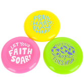 Playside Creations, Mini Religious Frisbees, 3.50 Inches, Assorted 12 Pack