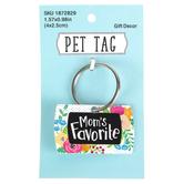 Moms Favorite Pet Tag, Metal, 1 x 1 1/2 inches
