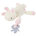 Stephen Joseph, Bunny Pacifier Plush, Polyester, White & Pink, 6 x 6 1/4 x 2 inches