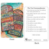 Dicksons, The 10 Commandments Pocket Card, 2 1/2 x 3 7/8 inches