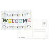 Farmhouse Lane Collection, Welcome Postcards, Multi-Colored, 3.5 x 5.5 Inches, Pack of 36