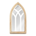 Modern Vintage, Wide Cathedral Windowpane Tabletop Mirror, MDF & Glass, 12 1/4 x 6 inches
