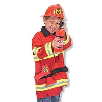 Melissa & Doug, Fire Chief Costume Set, Ages 3 to 6 Years Old, 5 Pieces