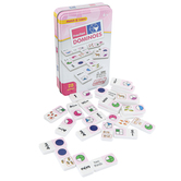 Junior Learning, Match & Learn Fraction Dominoes, 28 Pieces, Ages 8 & Older