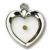 Heart Mustard Seed Pendant Necklace