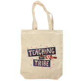 Renewing Minds Teaching My Tribe Canvas Tote Bag, Reusable, 13 x 15.5 Inches