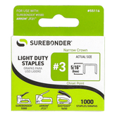 Surebonder Staples, Everyday Use, 5/16 Inch, Silver, 1000 Count