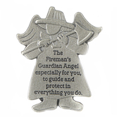 Abbey and CA Gift, Fireman Visor Clip, Pewter, 2 x 2 1/8 inches