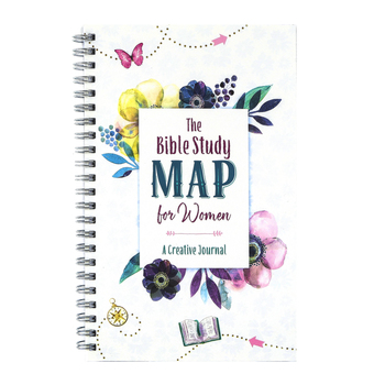 Barbour, The Bible Study Map for Women: A Creative Journal, Spiral Hardcover, 176 Pages