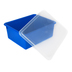 Storex, Deep Storage Tray With Clear Lid, Letter Size, Blue, Plastic, 13 x 10.5 x 5 Inches, 2 Pieces