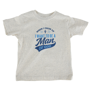 NOTW, Man Of God, Kid's Short Sleeve T-shirt, Natural Heather, 3T-Youth Large