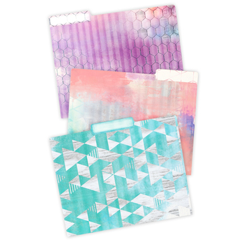 Retro Chic Collection, File Folders, 3 Assorted Designs, Multi-Colored, 12 Count