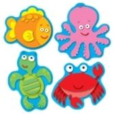 Carson Dellosa, Sea Life Shape Stickers, Multi-Colored, Pack of 96