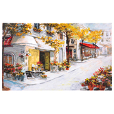 Paris Cafe Wall Decor, Canvas, Assorted Colors, 21 7/8 x 36 x 1 1/2 inches