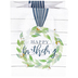 Small Happy Birthday Cotton Wreath Gift Bag, White, 7 x 8 1/2 Inches
