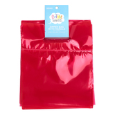 Bright Ideas, Zipper Bags with Handle, Red, Translucent Plastic, 20 Count