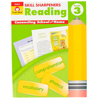 Evan-Moor, Skill Sharpeners Reading Activity Book, Paperback, 144 Pages, Grade 3