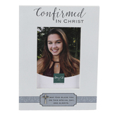 Abbey and CA Gift, Confirmed In Christ Easel-Back Photo Frame, Holds 3 1/2 x 5 inch Photo, 8 x 6 inches
