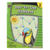 Teacher Created Resources, Ready-Set-Learn Activity Book: Dot-to-Dot Numbers, Paperback, Grade K
