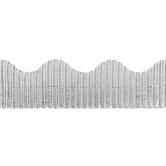 The Fine Touch, Corrugated Border Trim, 25 Feet, Metallic Silver