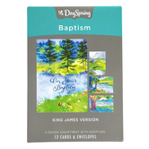 DaySpring, Step of Faith Baptism Boxed Cards, 12 Cards with Envelopes