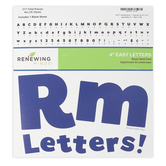 Renewing Minds, Dark Blue Bulletin Board Letters, Upper and Lowercase, 4 Inches, Dark Blue, 217 Pieces