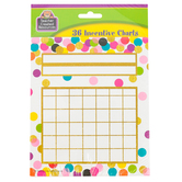 Teacher Created Resources, Confetti Customizable Mini Incentive Charts, 5.25 x 6 Inches, Multi-Colored, 36 Sheets