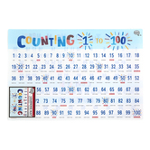 The Brainery, Counting 1 to 100 Learning Mat, Plastic, 11 1/2 x 17 1/2 Inches, Ages 4 and up