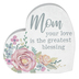 Carson Home Accents, Mom Your Love Is The Greatest Blessing Heart Block, Wood, 6 inches