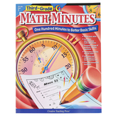 Creative Teaching Press, Math Minutes Workbook, Reproducible Paperback, 112 Pages, Grade 3