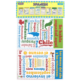 McDonald Publishing, Spanish Chatter Charts, 11 x 17 Inches, Pack of 8, Grades 4-12
