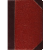 ESV Study Bible, TruTone, Brown and Cordovan, Portfolio Design, Thumb Indexed
