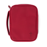 Dicksons, Cross Compact Bible Cover, Vinyl, Red