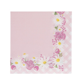 Brother Sister Design Studio, Hello Baby Small Napkins, Pink Floral, 4 7/8 x 4 7/8 Inches, Pack of 25