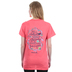 Cherished Girl, Proverbs 31: 25, Strength & Dignity, Women's Short Sleeve T-Shirt, Coral Silk, Small