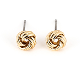 Howard's, Ear Sense, Love Knot Post Earrings, Gold, 1/4 Inches