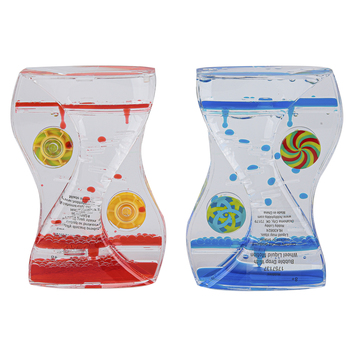Bubble Drop With Wheel Liquid Motion, Red or Blue, 5 x 3 1/2 x 3/4 Inches, Ages 8 Years and Older